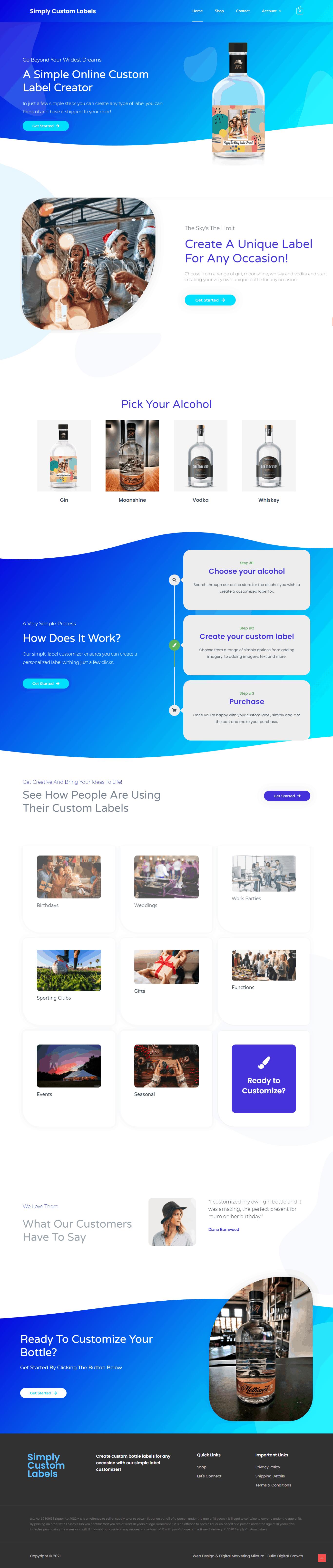 Simply Custom Labels Web Design